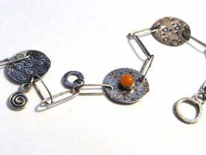 A Charmed Life...READY TO SHIP...Handmade Sterling Silver Charm Bracelet