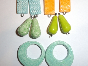 Ceramic Connector and Charm Bargain Lot....10 pcs All in pairs
