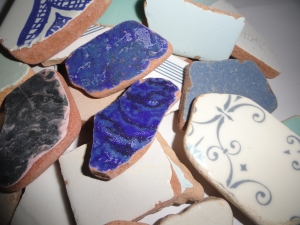 MEDITERRANEAN Sea Pottery LOT #5 XL Pcs. Plucked from the Sea in Porto Ercola on the Tuscan Coast of Italy