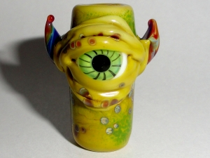 Dreaded Monsters... Dewey...  Lampwork Glass Bead Dread bead  *READY TO SHIP*  8mm Hole