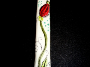 Seed Pods Chillum, one hitter. Handpainted, unique and fun design!