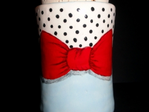 Bubbles and Bows Stash Pot...Whatever you want to put in there (wink wink nudge nudge) Keep it dry, keep it fresh, keep it safe!