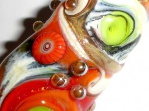 Dreaded Autumn-Matic Totem Pole...Beatlebaby Glassworks Original Dread bead  8mm hole