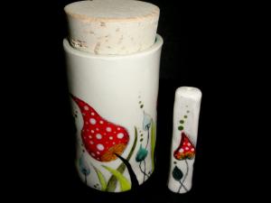 Mushie Stash Jar and matching Chillum