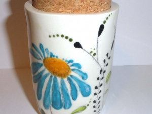Blue Daisies Stash Pots.....Whatever you want to put in there (wink wink nudge nudge) Keep it dry, keep it fresh, keep it safe!