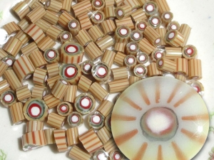 Rio Grande.....Handmade Murrini Chips...Millefiori Slices ...COE 104 Autumn earth southwest fall Beatlebaby Supply