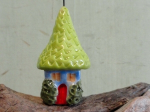 Gnome Home Flag ceramic pottery clay cottage fairy garden miniature terrarium