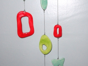 Floating Amoebas...Calder, Eames inspired Atomic Retro Chime. Hand sculpted by Beatlebaby OOAK