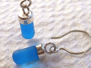 Glass Lite Tube earrings