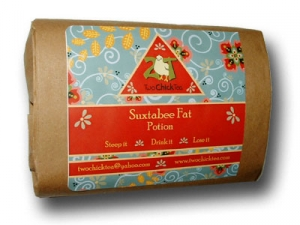 SuxtabeeFat Potion by Two Chick Tea..30 day REFILL...Weight loss diet tea organic herbs,  natural healthy detox